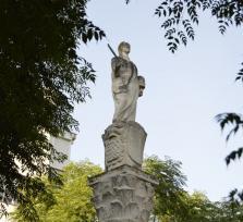 El obelisco de Santa Eulalia gira solo misteriosamente